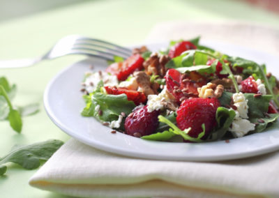Strawberry Baby Kale Salad