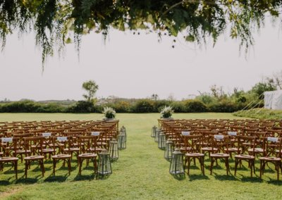 daryl and nick ceremony view